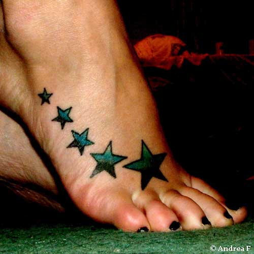 star foot tattoos cool tattoo designs. Black Bedroom Furniture Sets. Home Design Ideas