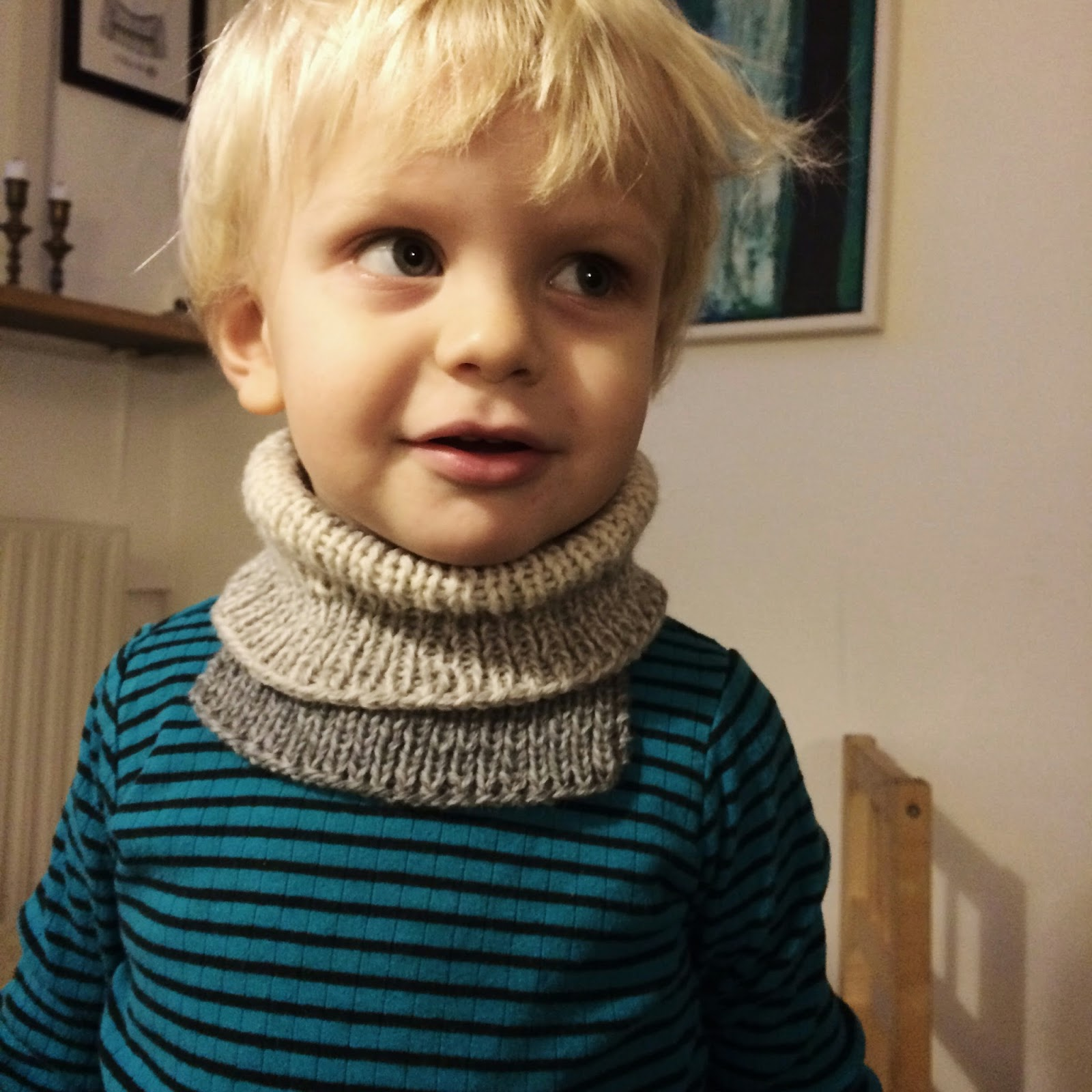 Cowl for toddlers (one size) free knitting pattern