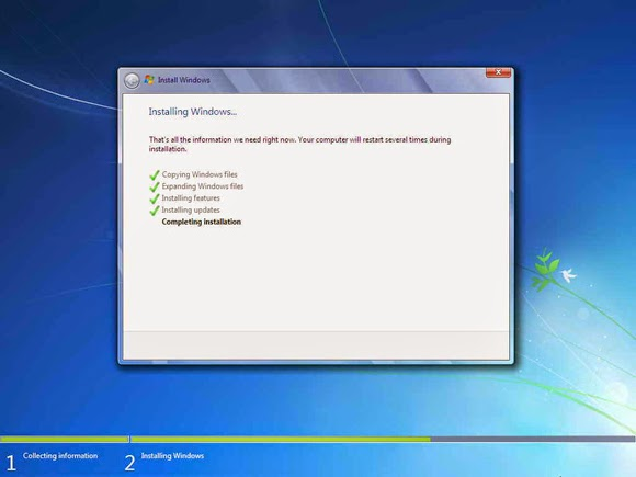 Cara Install Windows 7 Lengkap Dengan Gambar