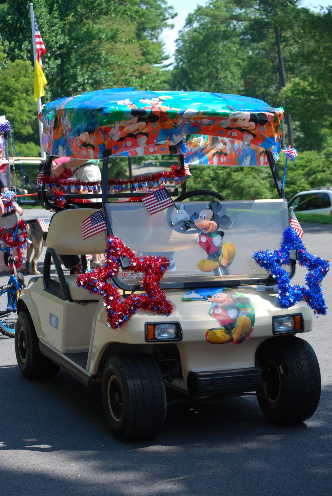 The Woltz Twins: Fourth of July on betty boop july 4th, golf cart decorating ideas, golf cart christmas sleigh,