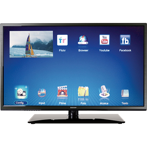 "Smart TV LED 40"" Semp Toshiba DL4077I Full HD com Conversor Digital"