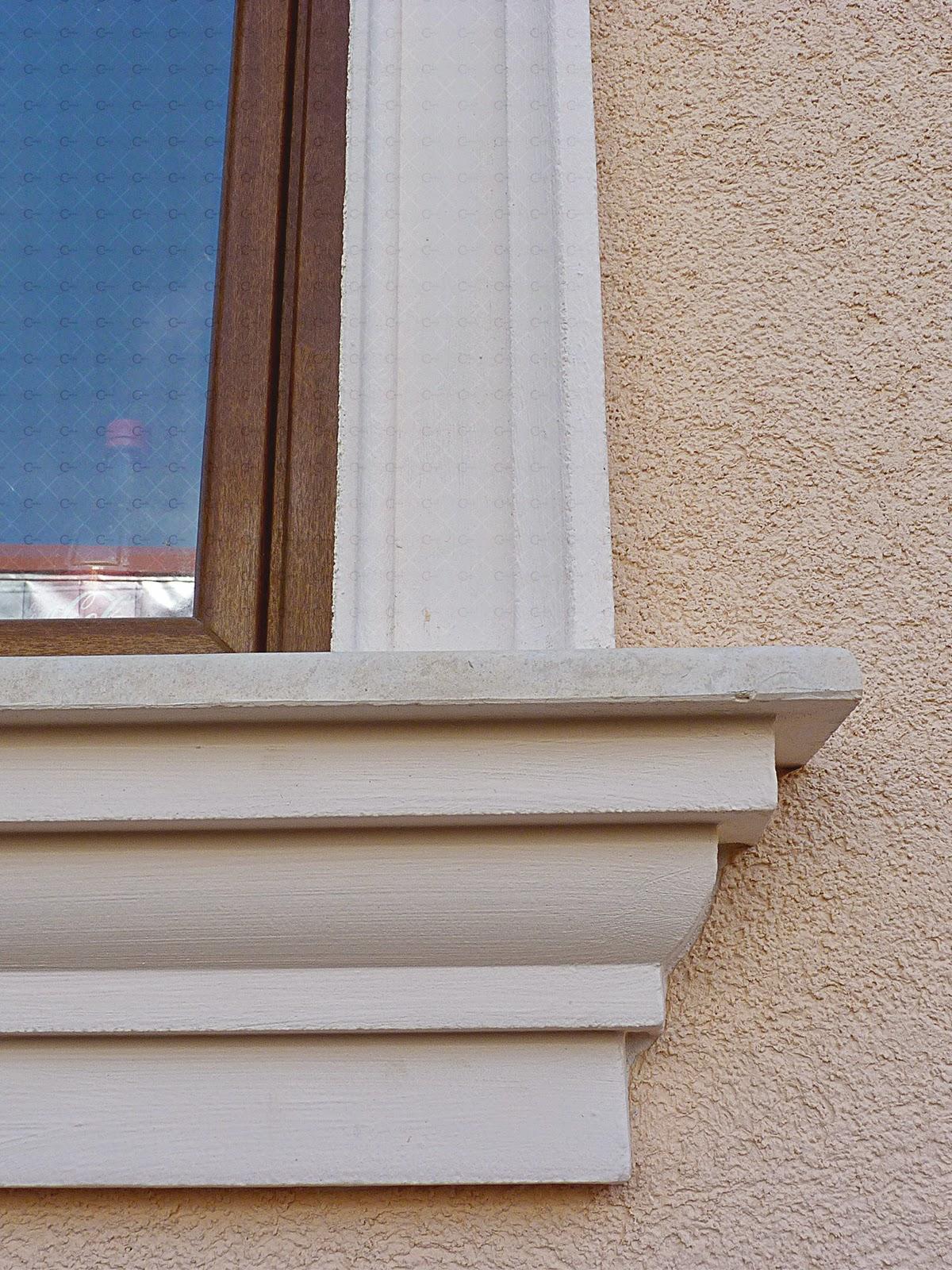Solbanc din polistiren pentru ferestre la exterior pentru fatade case