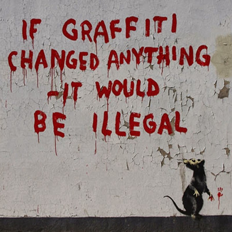 15 Of Banksy's Most Iconic Street Artworks - If Graffiti Changed Anything, 2011