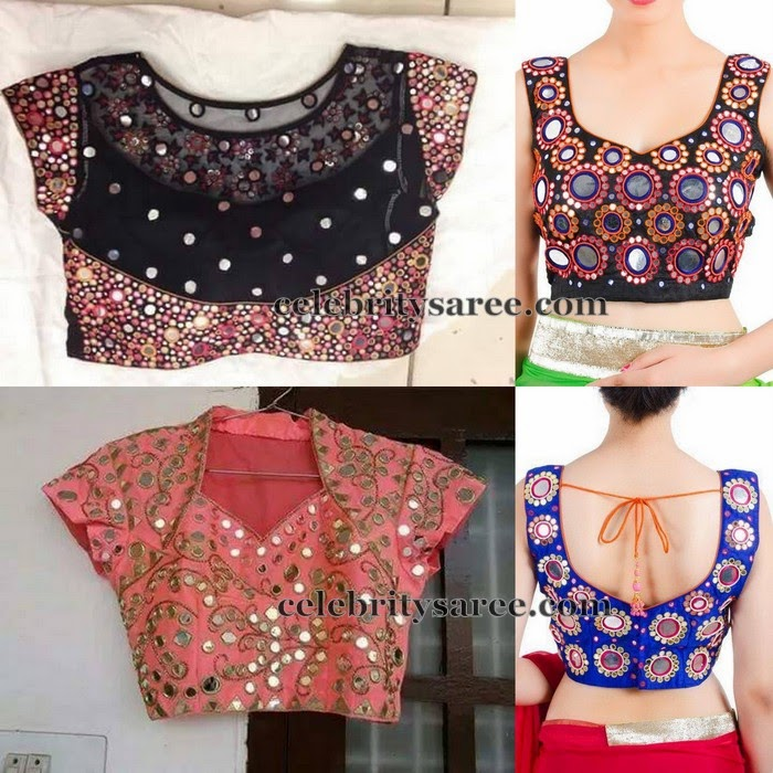 Glass Work Blouses Online 35