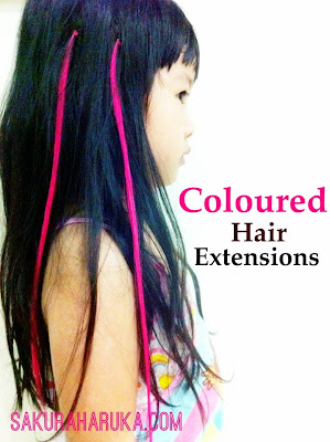 Sakura haruka singapore parenting and lifestyle blog little hair chalking is a really fun way to add colours to your hair non permanently but if you dont want to mess with chalk dust try out hair extensions pmusecretfo Choice Image