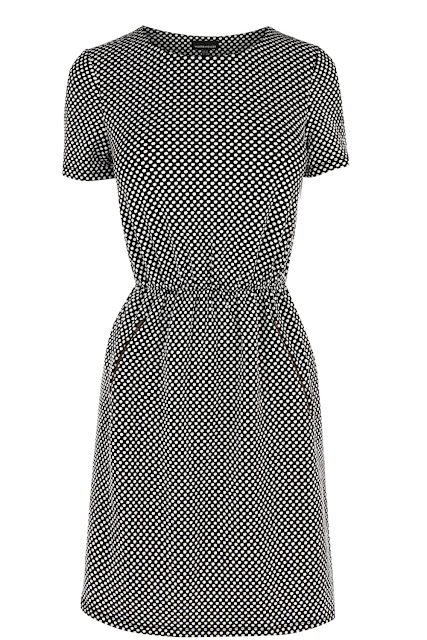 textured dress with pockets