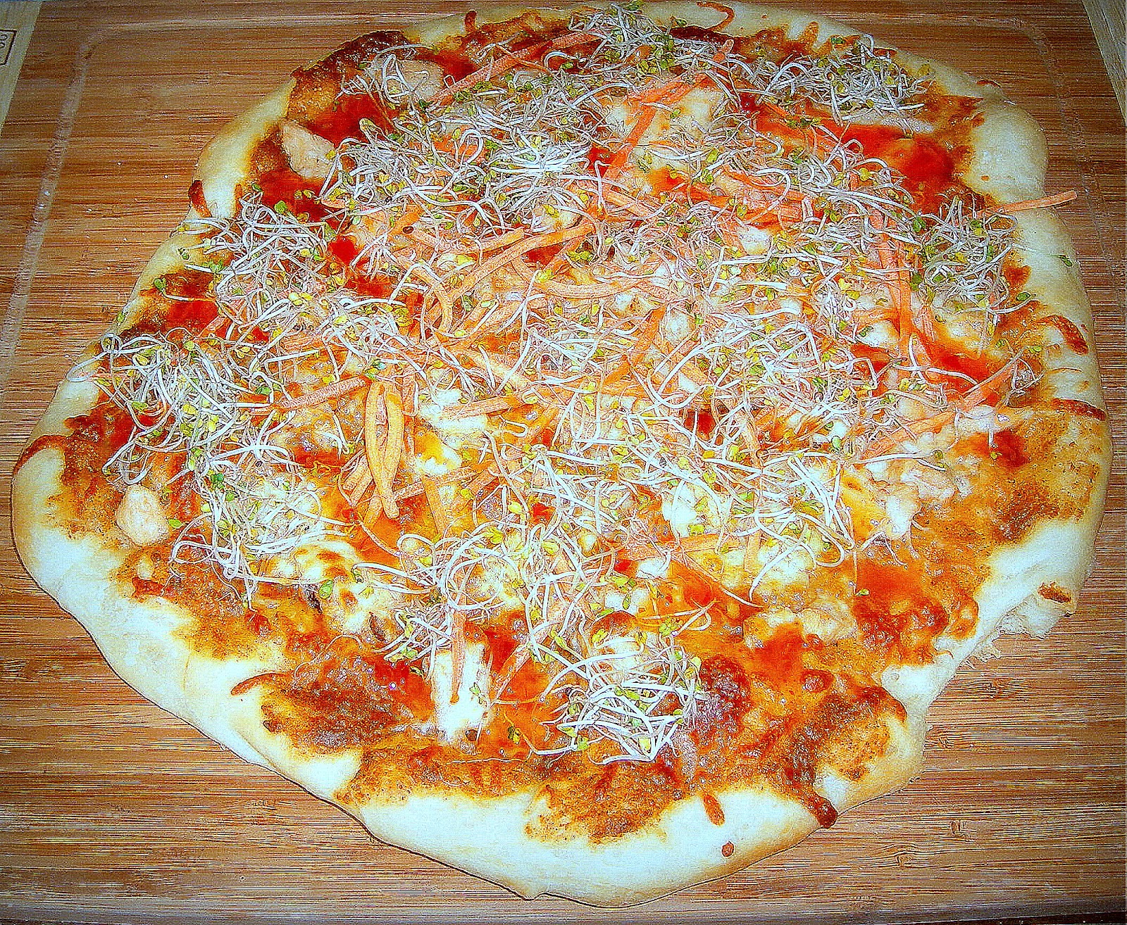 Thai Chicken Pizza With Sweet Chili Sauce Recipes — Dishmaps