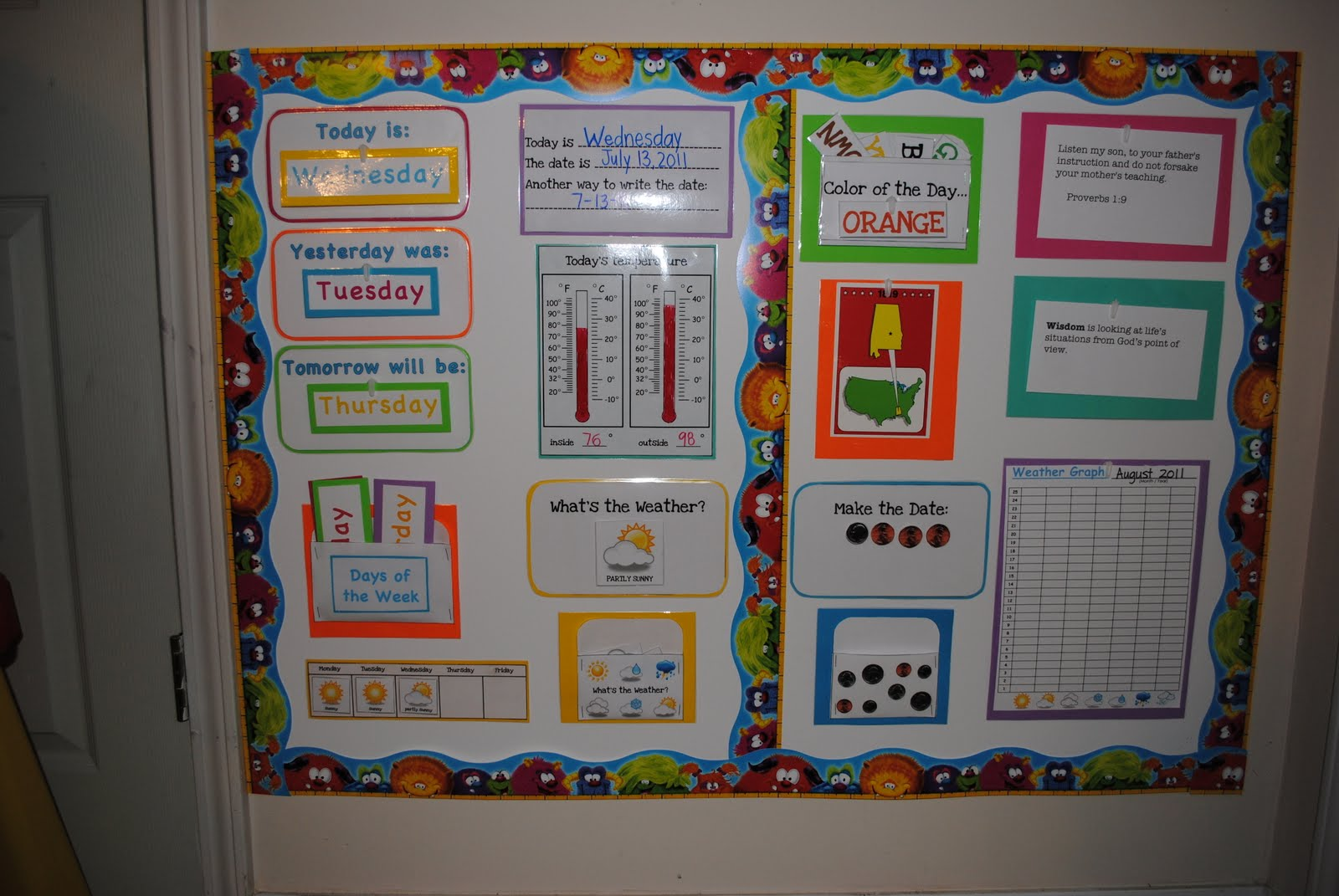 Calendar Board Ideas : There s no school like homeschool morning meeting and