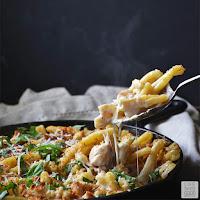 Chicken Cordon Bleu Pasta   by Life Tastes Good