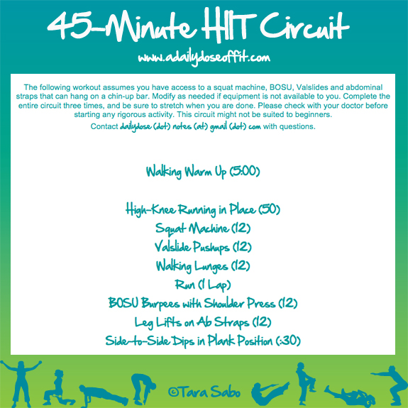 A Daily Dose of Fit: This Week's Workouts