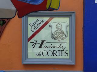 Eingang der Hacienda Cortes in Coyoacan Mexiko Stadt