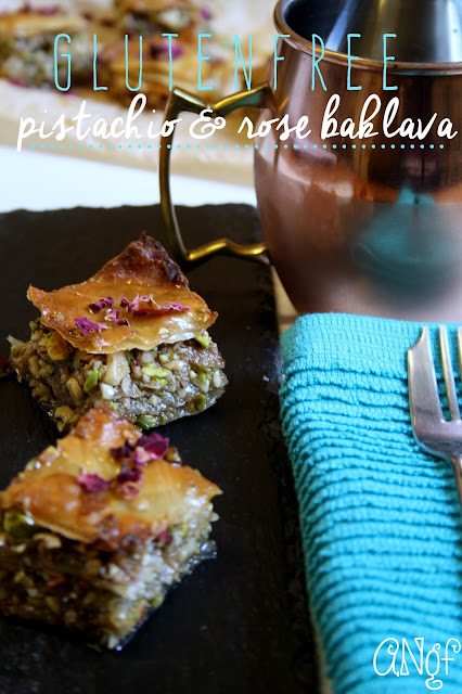 Gluten Free PIstachio and Rose Baklava from Anyonita-nibbles.co.uk
