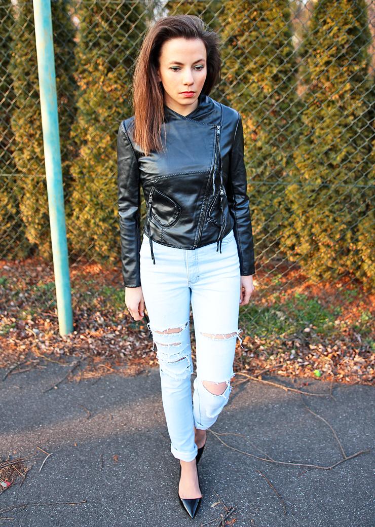 podarte jeansy stylizacje