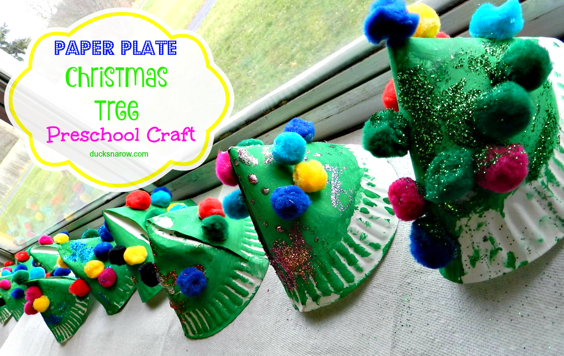 paper plate christmas tree craft for kids ducks 39 n a row. Black Bedroom Furniture Sets. Home Design Ideas