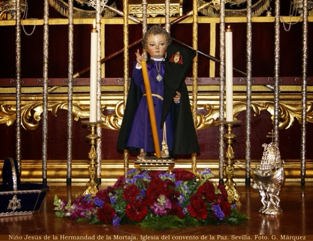 Niño Jesús de la Hermandad de la Mortaja. Iglesia del convento de la Paz. Sevilla. Foto. G. Márquez