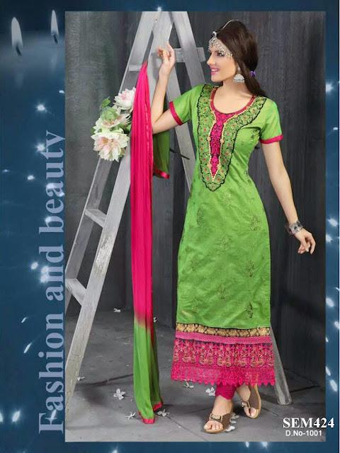 New Designer Embroidery Long Salwar Kameez