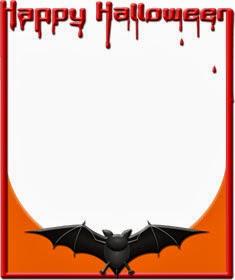ハロウィンのイラスト・蝙蝠の飾り枠