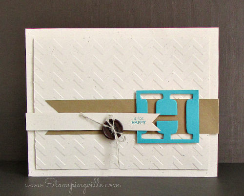 H is for Happy | Stampingville - Card by Sue Dillon