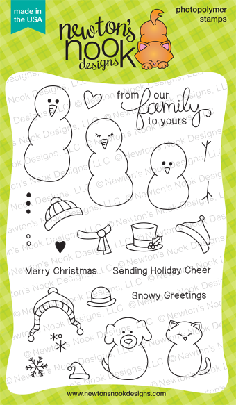 Flaky Family - 4x6 Holiday Snowman Stamp set by Newton's Nook Designs
