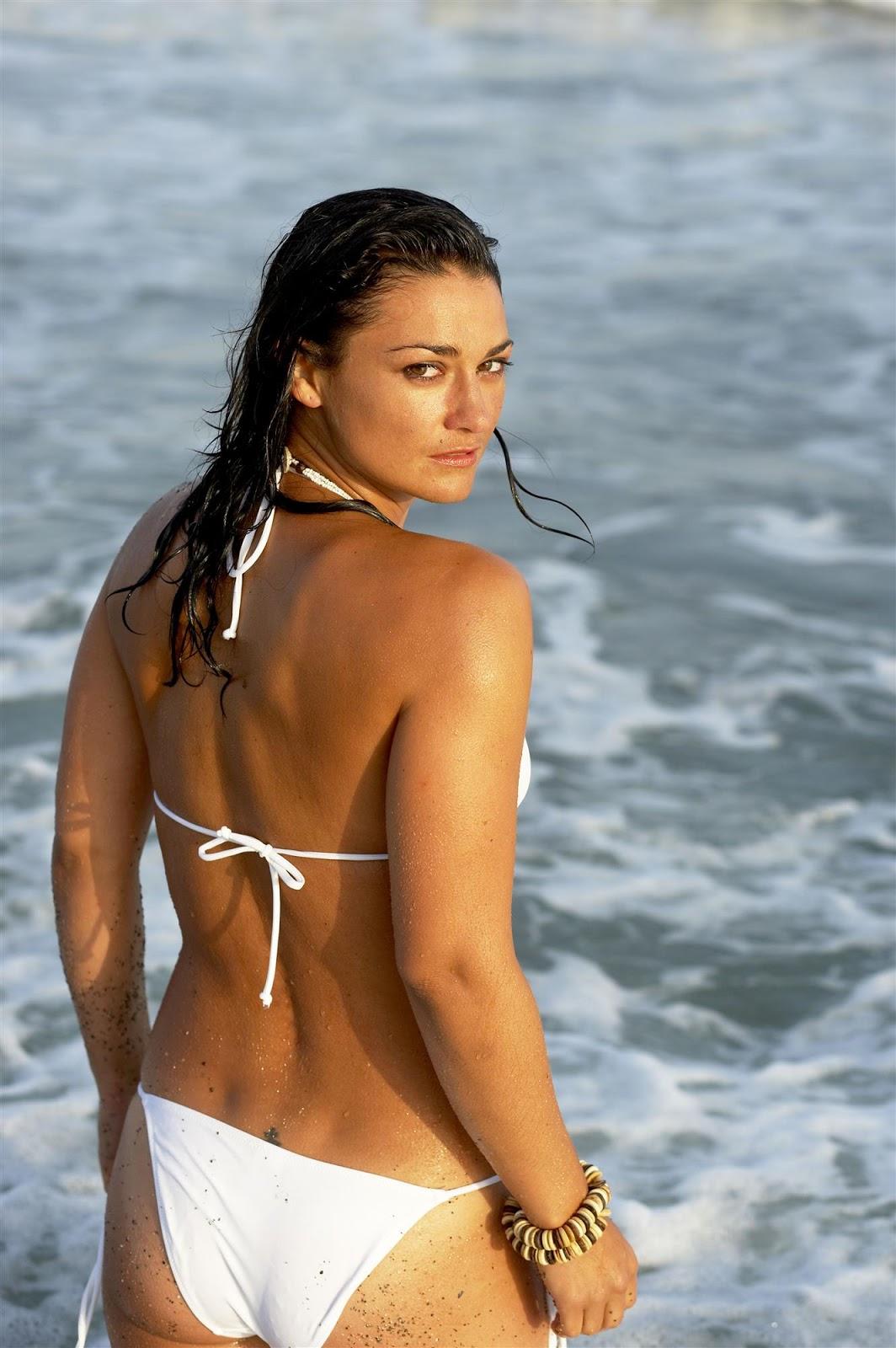 Natalie robb covered topless unknown bikini beach photoshoot