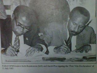 West Papua Proclamators on 1 juli 1971