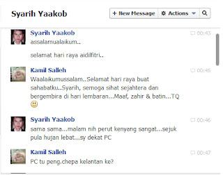 sms. mesej, blogger Syarih Yaakob, rumah terbuka, berkunjung, sambutan hari raya