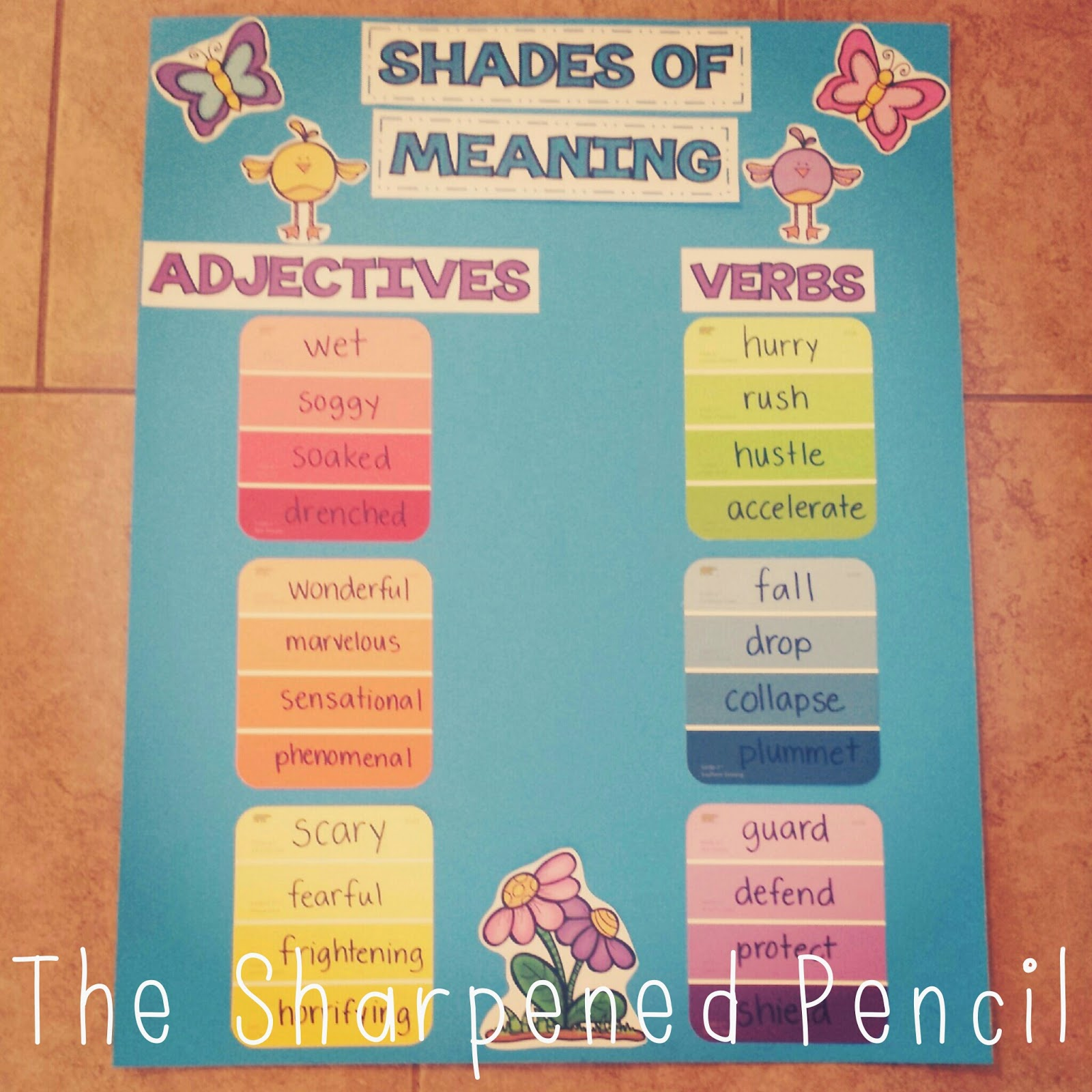 The Sharpened Pencil: Shades of Spring!