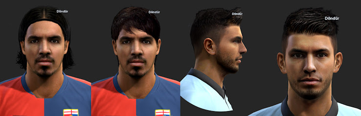 PES 2013 Sergio Agüero and Juan Vargas Faces by ilhan & M4rc310