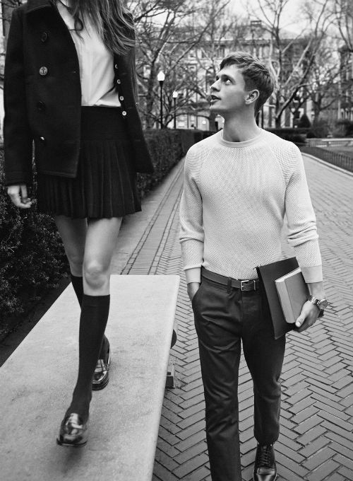 girl in school uniform college students guy and girl dating