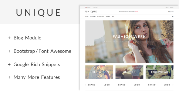 UniqueShop Prestashop Theme Free