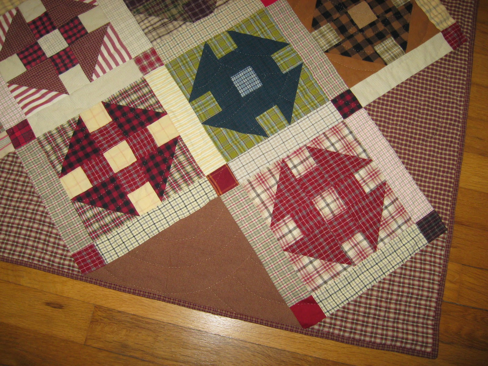 plaid homespun churn dash quilt