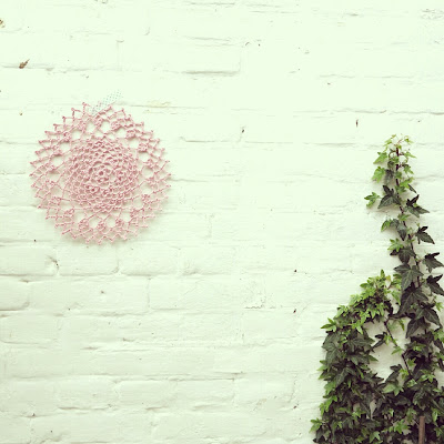 ByHaafner, crochet, doily, pink, pastel