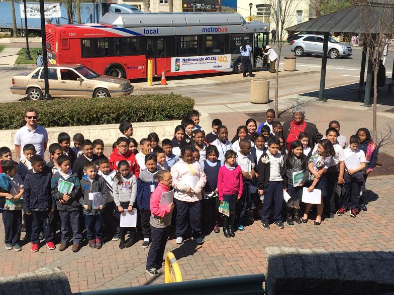 Third Graders on the Plaza