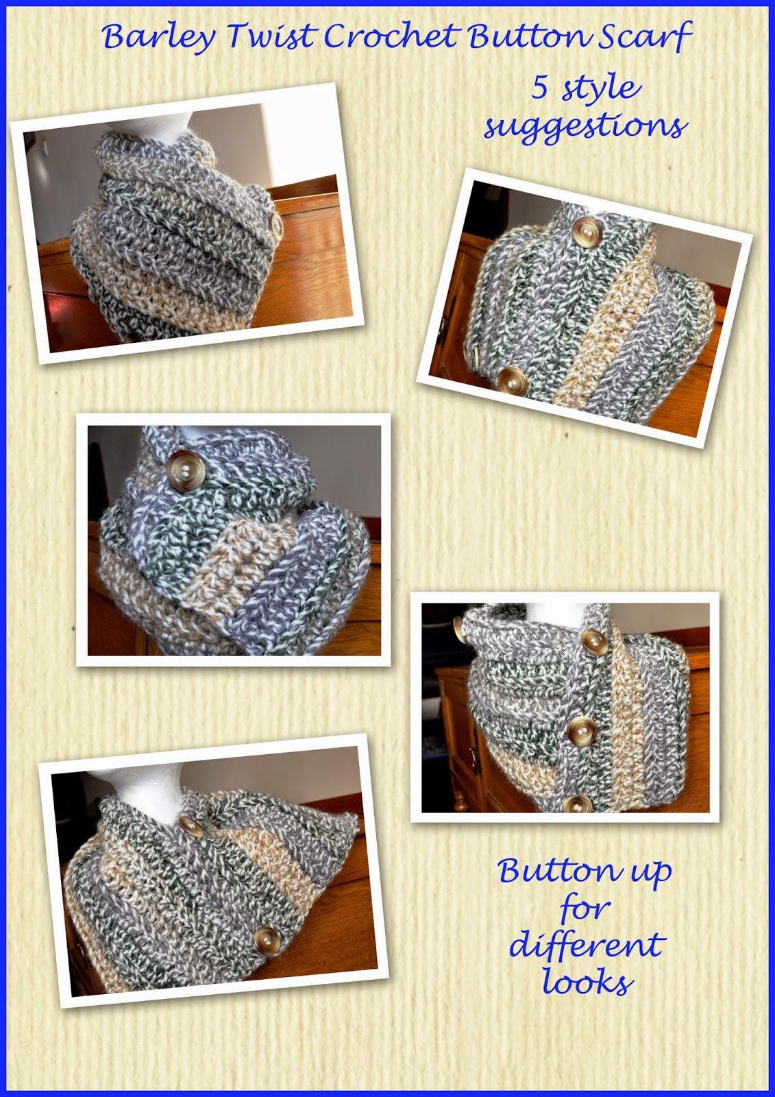 5 styles for your button scarf