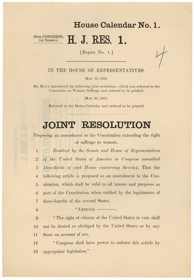 19th amendment to the constitution The nineteenth amendment gave women the right to vote but lesser made it certain the right could be used even in states where the state constitution did not allow it notes [ change | change source .