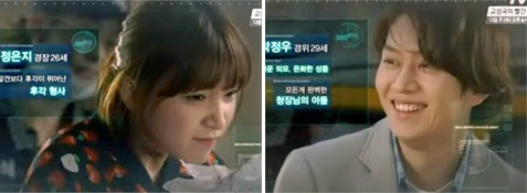 Lee Cho Hee 이초희 as Jung Eun Ji and Kim Hee Chul as Park Jung Woo.