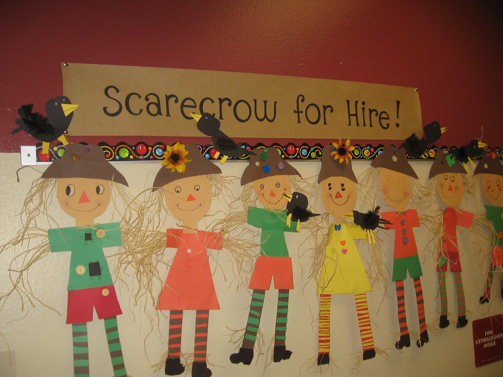 Buzzing About Second Grade Scarecrow For Hire
