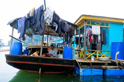 Fishing Village in Halong Bay Vietnam