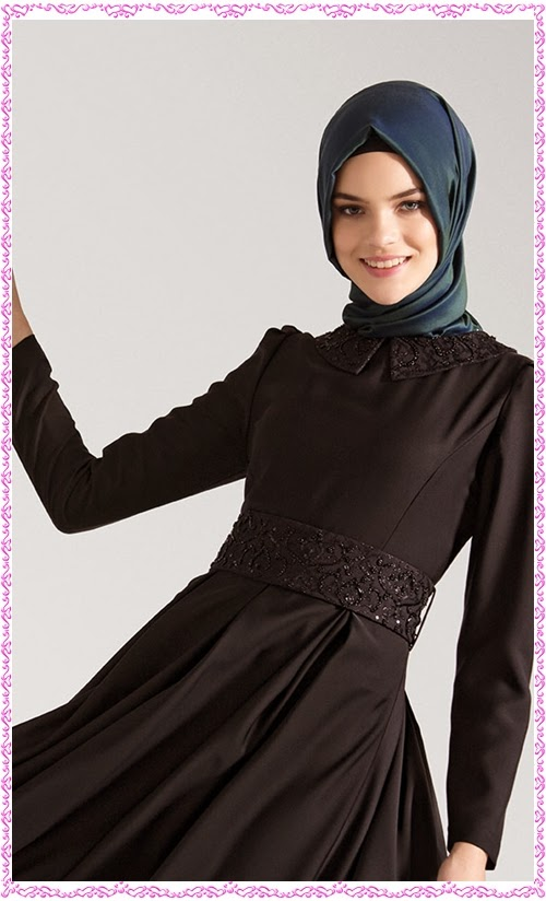 Tuğba 2013/2014 sonbahar kış tesettür elbise modelleri