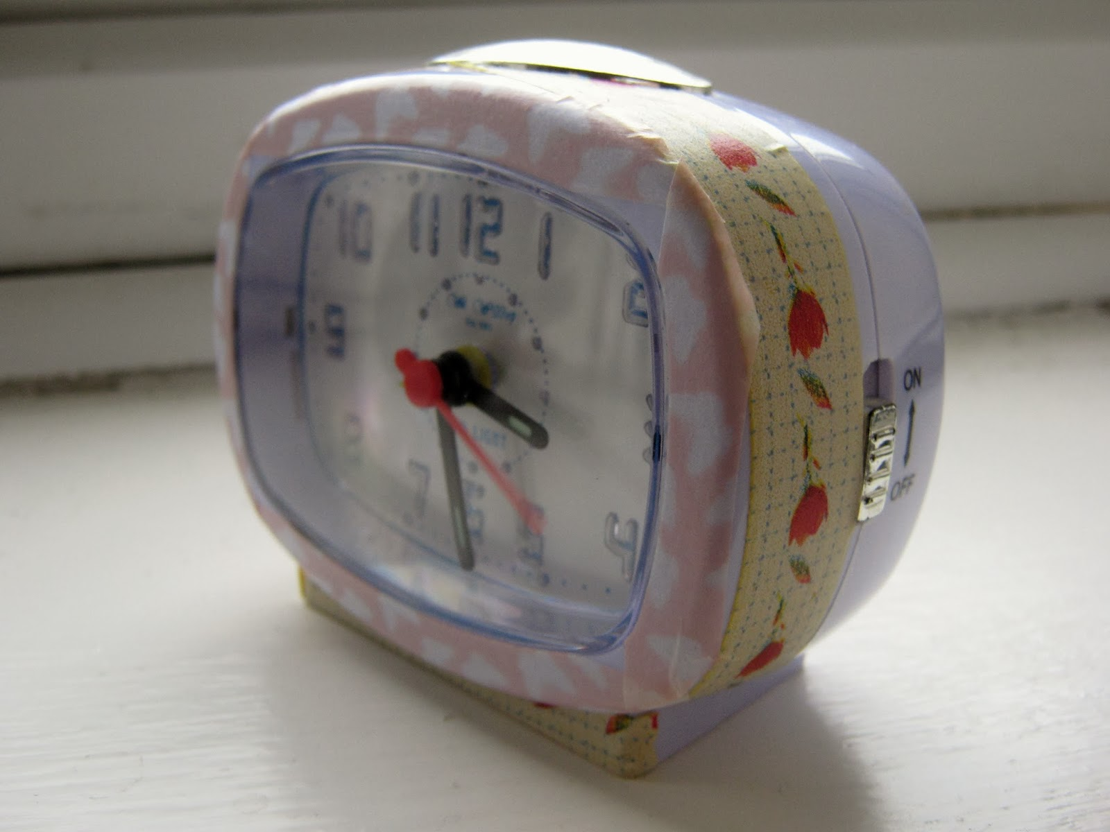 Washi Tape Alarm Clock DIY