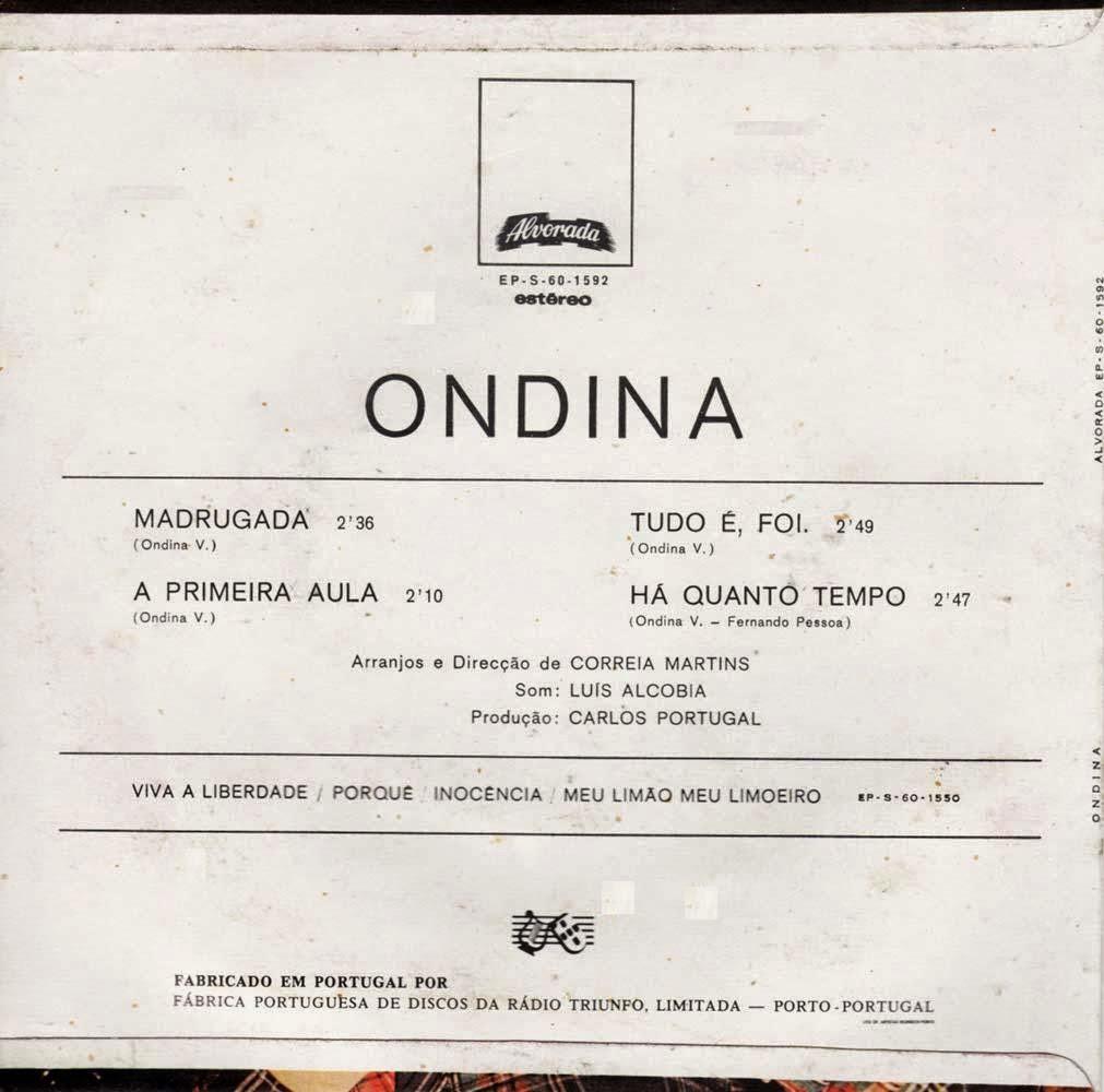 Ondina (Dina) - Madrugada (EP 1976) Ondina+%2528Dina%2529+-+Back