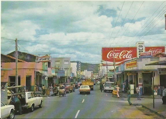 Rua São Pedro em postal antigo.