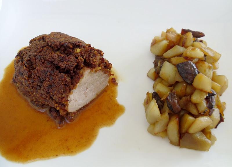 Gourmande ou passionnée...: Mignon de porc en croûte de champignons séchés, poêlée de ...
