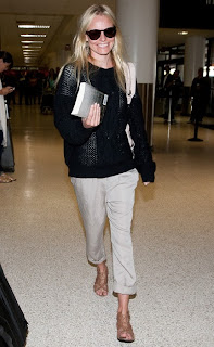 Kate Bosworth Street Style Airport Flat Sandals