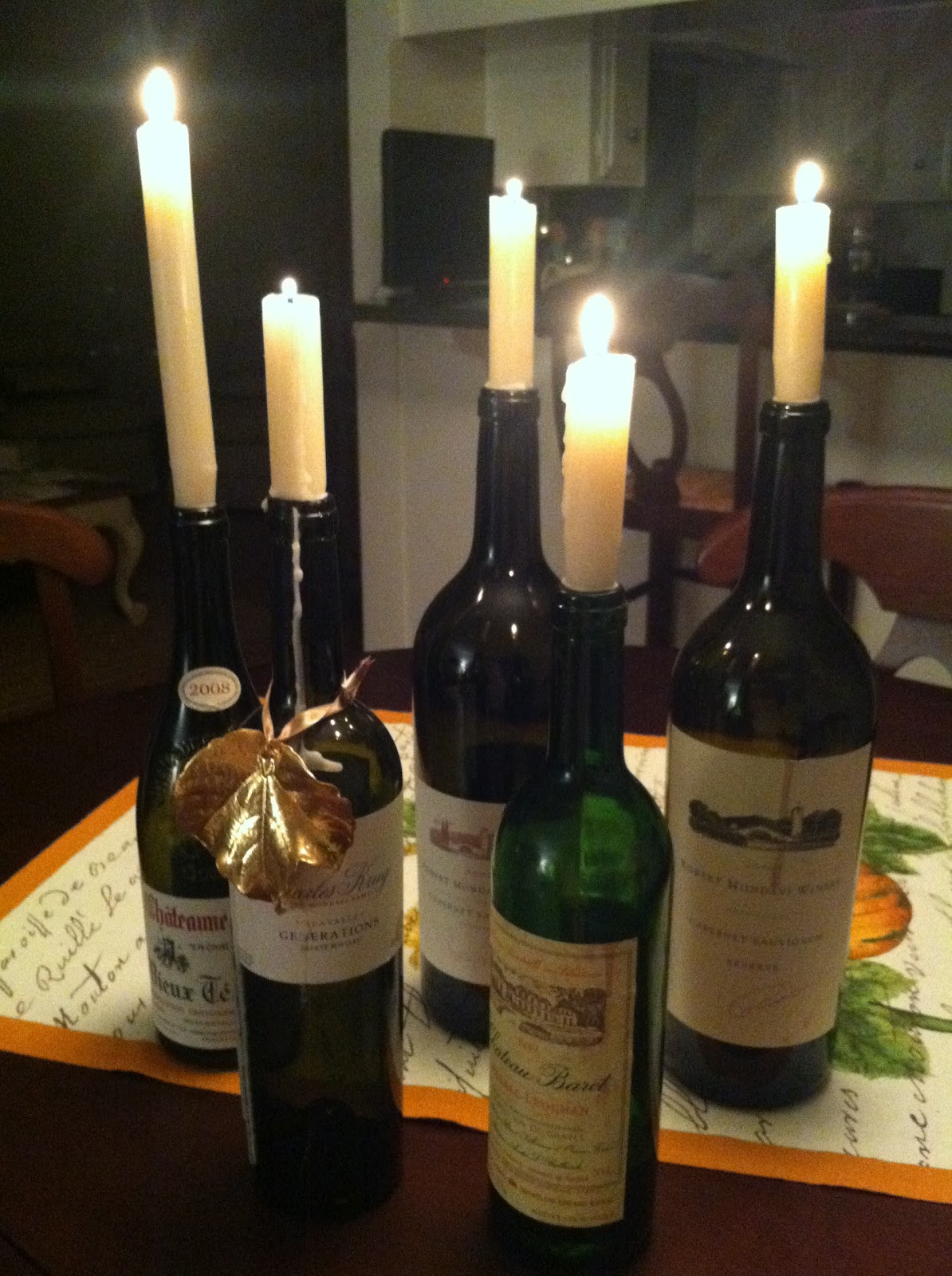 Wine Bottle Candle Holders From Scratch With Maria