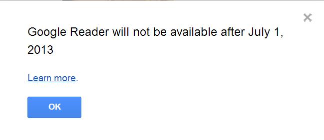 google reader ends on google calender