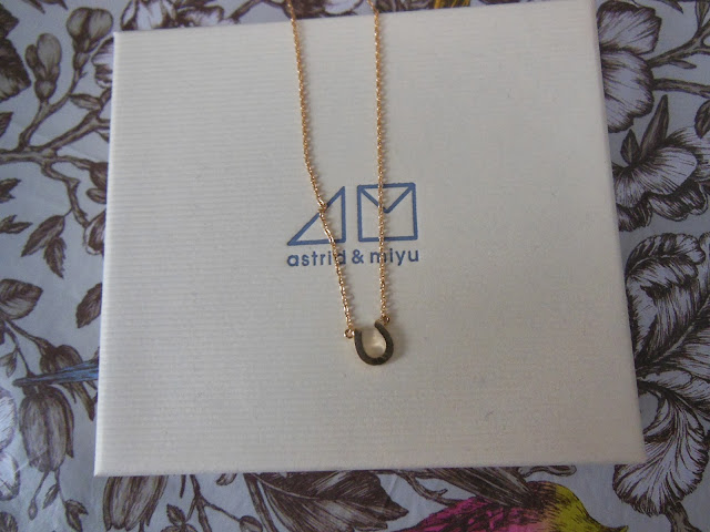 Astrid and Miyu secret box contents December horseshoe necklace