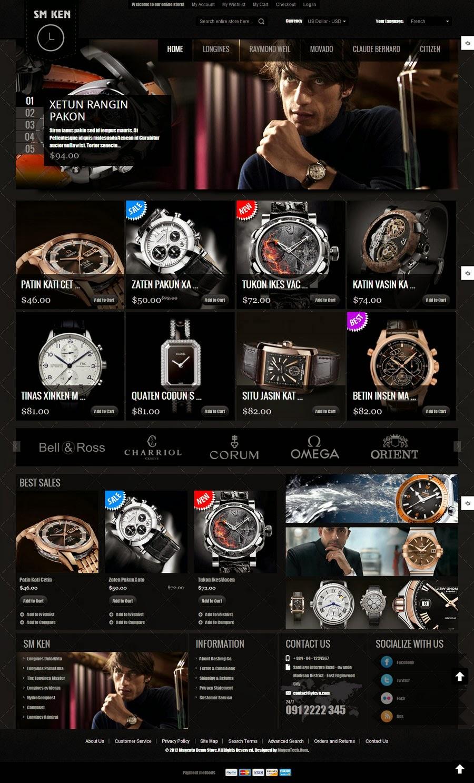 dịch vụ thiết kế web bán đồng hồ