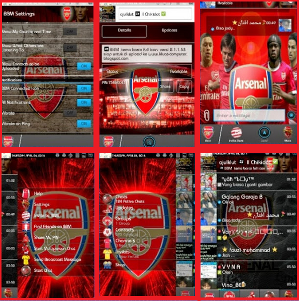 BBM Mod Tema Klub Arsenal