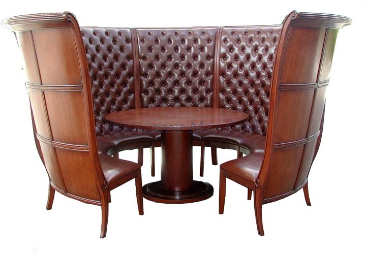 Booth style dining table booth veneers pic for Dining room tables booth style